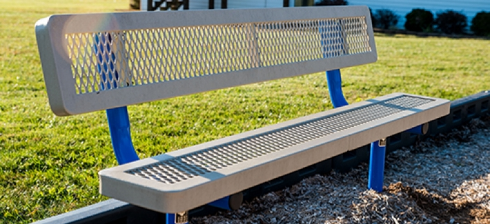 Amazing Metal Benches Steel Bench Designs Site Amenities Machost Co Dining Chair Design Ideas Machostcouk